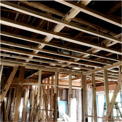 古い家は構造がしっかりしている。